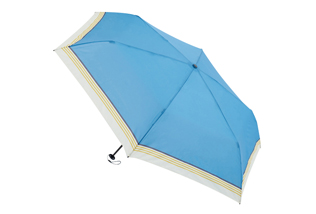 hands+;Super_lightweight_easy_open_&_close_fold_umbrella;50cm_Blue_Boarder